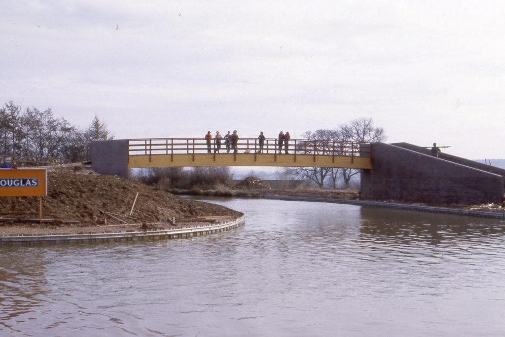 Bridge over south end cut off, Mar 85